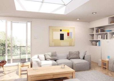 roof lantern skylight living room