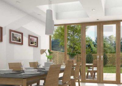 flat roof lantern skylight
