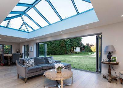 roof lantern conservatory bifolding door