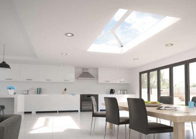 stratus aluminium roof lantern skylight kitchen bifolding patio door