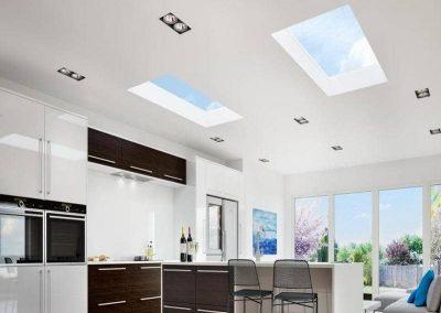 flat kitchen aluminium roof lantern skylight