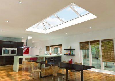 skypod pvcu roof lantern kitchen render