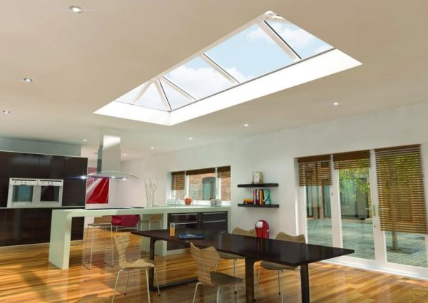 skypod pvcu roof lantern kitchen render