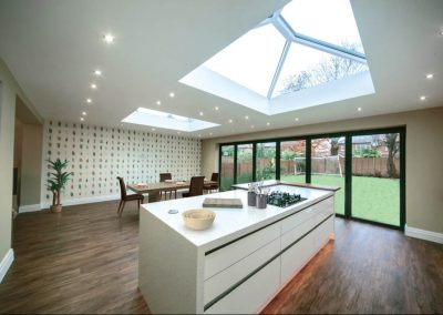 skypod pvcu roof lantern interior bifold kitchen