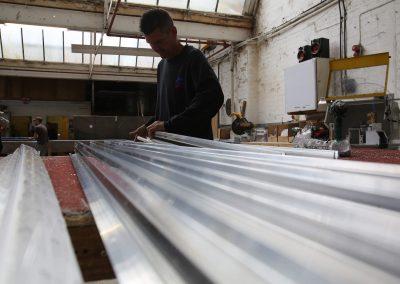 fabricating aluminium roof lanterns